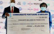 Côte d'Ivoire : La communauté portuaire d'Abidjan offre 278 millions de FCFA contre le Covid-19